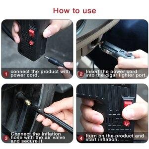 Image 5 - Black Tire Inflator Pomp DC 12 v multifunctionele Draagbare Elektrische Auto Pomp Voor Auto S Fietsen Pompen Pointer Display