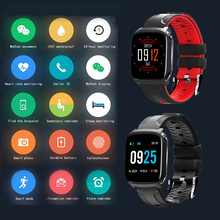 Купить с кэшбэком IP67 Sport Pedometers waterproof smart watch TF9 Men sport smartwatch heart rate monitor sleep monitor Multi Sports Band