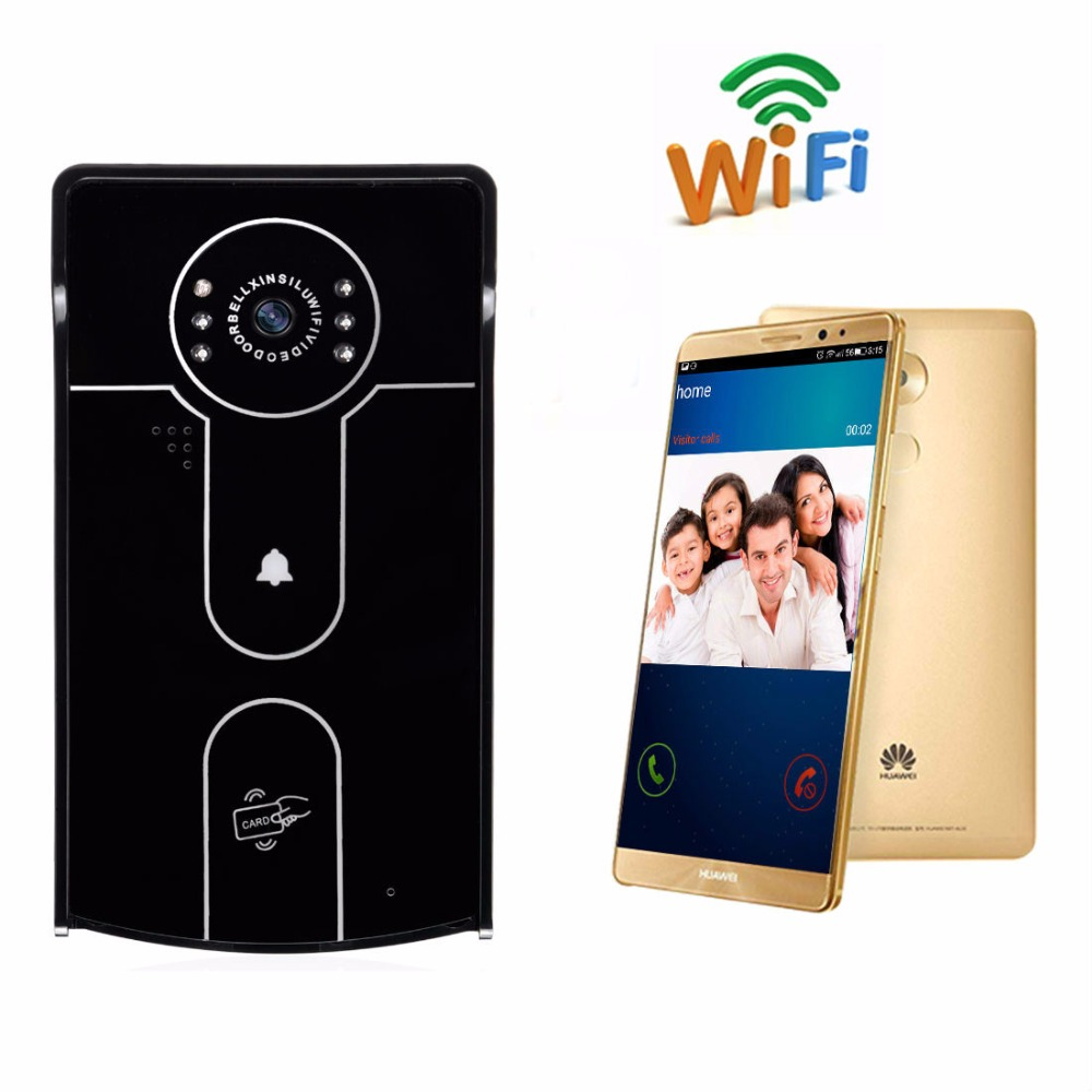 YobangSecurity Wifi Wireless Video Door Phone Doorbell Camera Video Intercom System Recording RFID Keyfobs Android IOS APP yobangsecurity wifi gsm gprs home security alarm system android ios app control door window pir sensor wireless smoke detector