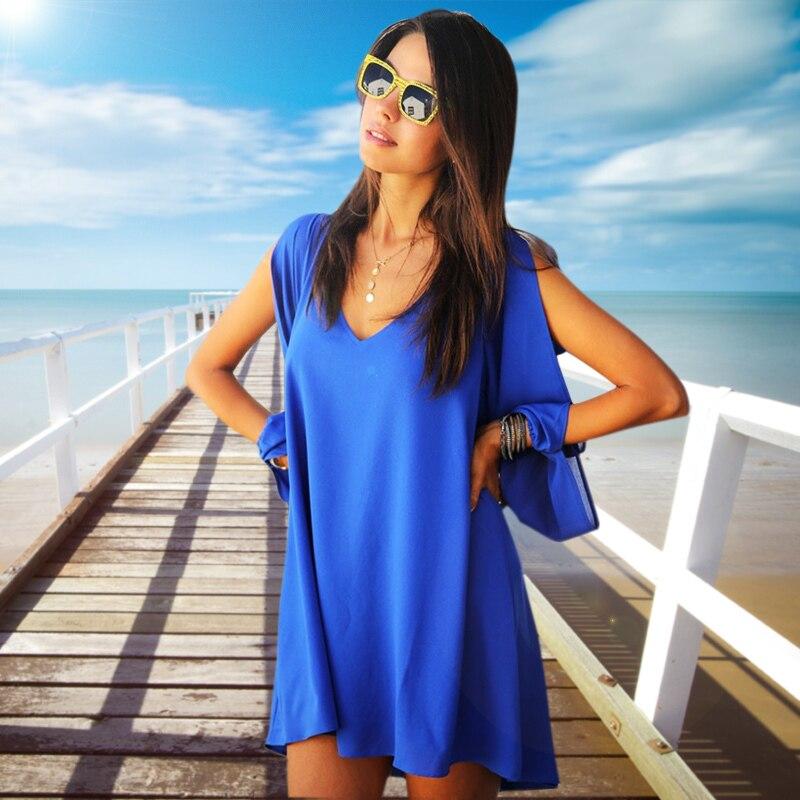 Summer dress 2017 mujeres casual dress gasa del verano más el tamaño de mujer ve