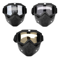 Sale Modular Detachable Goggles And Mouth Filter Open Face Motorcycle Helmet