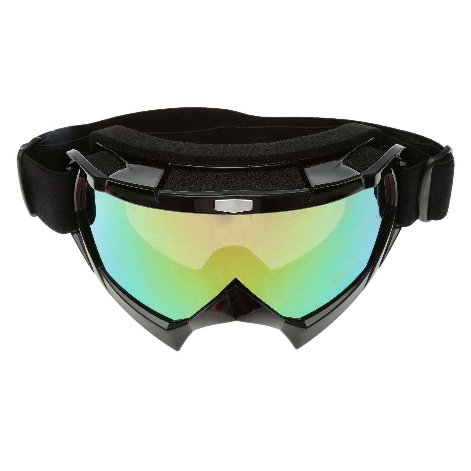 Lunettes de cyclisme UV400 descente course moto lunettes de soleil amovibles protège-nez usure avec casque sports de plein air (Chaux) IN5cSq