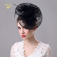 Wedding Hats For Women Vintage Net Bridal Hats Black Wedding Accessorie Brides Fascinator Wedding Birdcage Veil Face Veils BH009