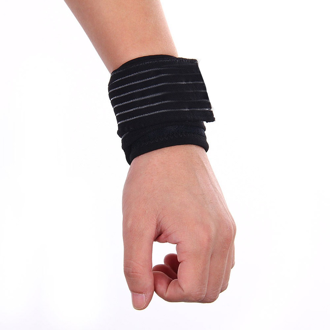 Badminton Gym Stretchy Cotton Wrist Brace Hand Wrist Straps Sport Wristbands Support Wrist Protector Carpal Tunnel Bracer