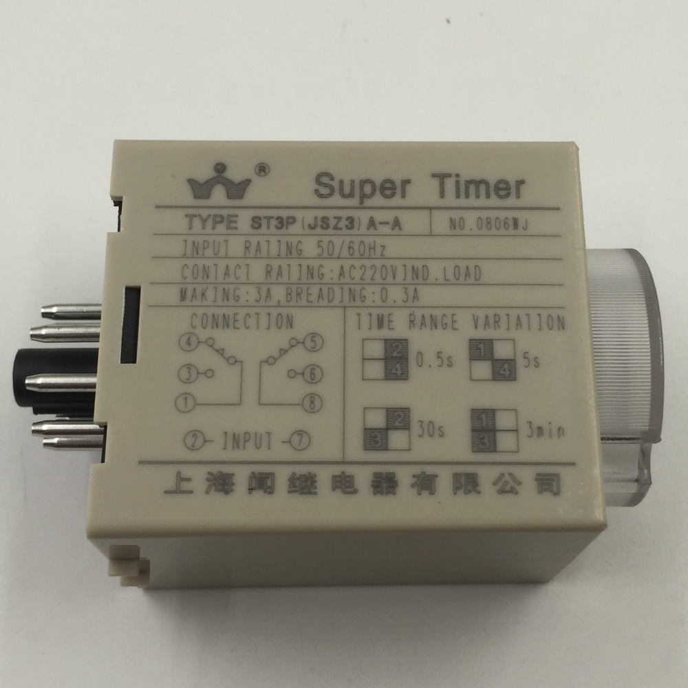 St3p A C Jsz3 Power On Time Delay Relay 5s 50s 5min 30min Rating In Relays From Home Improvement Alibaba Group