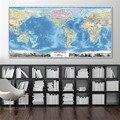 Mapa do mundo Da Lona Impressão Artwork Casa Cuadros Decoracion Elaborado Design High-End Pintura Decorativa Adesivos de Parede Café Pub Bar