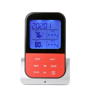 Image 3 - BBQ Meat Thermometer, Wireless Digital Cooking Thermometer with 2 Probe Port for Smoker Grilling Oven Kitchen