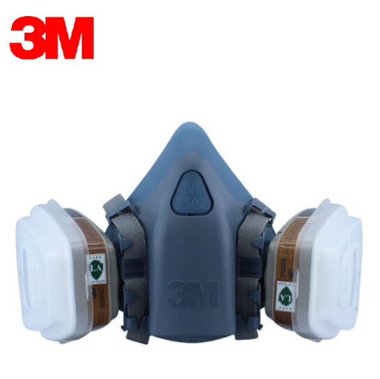 3M 7501+6005 Half Facepiece Reusable Respirator Mask Formaldehyde/Organic Vapor Cartridge 7 Items for 1 Set XK001 3m 6300 6001 respirator half face mask painted against organic vapor gas cartridges 7 items for 1 set lt013