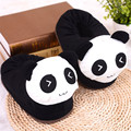 LIN KING New Arrival Panda Slippers Plush Pantoufle Women Shoes House Animal Warm Big Animal Funny Adult Home Floor Slippers