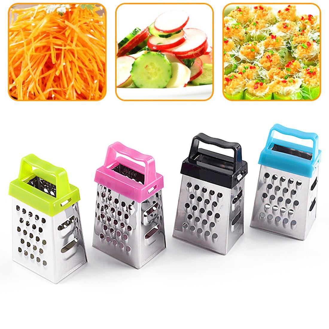 New Mini 4 Sides Multifunction Handheld Grater Slicer Small and versatile Vegetable Fruit Peeler Slicer Kitchen Tools Gadget