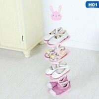 1Pc Shoe Rack Kid Cartoon Animal Pattern Floor mounted Shoe Organizer Holder Stand Storage Capacity Home Furniture
