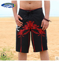 2015 Men Summer Famous Brand Casual Flower Beach Shorts Plus Size Loose Male Board Shorts Straight
