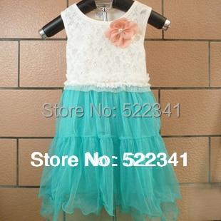 summer Korean baby chiffon strap stitching dress Girls princess Ball Gown veil childrens clothing jumper dress sundress