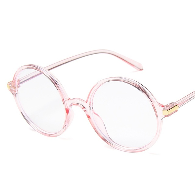 d827d59e13e Korean Style Clear Glasses Frame Anti Blue Light Glasses Women Fake Glasses  Pink Optical Eyeglasses Frame