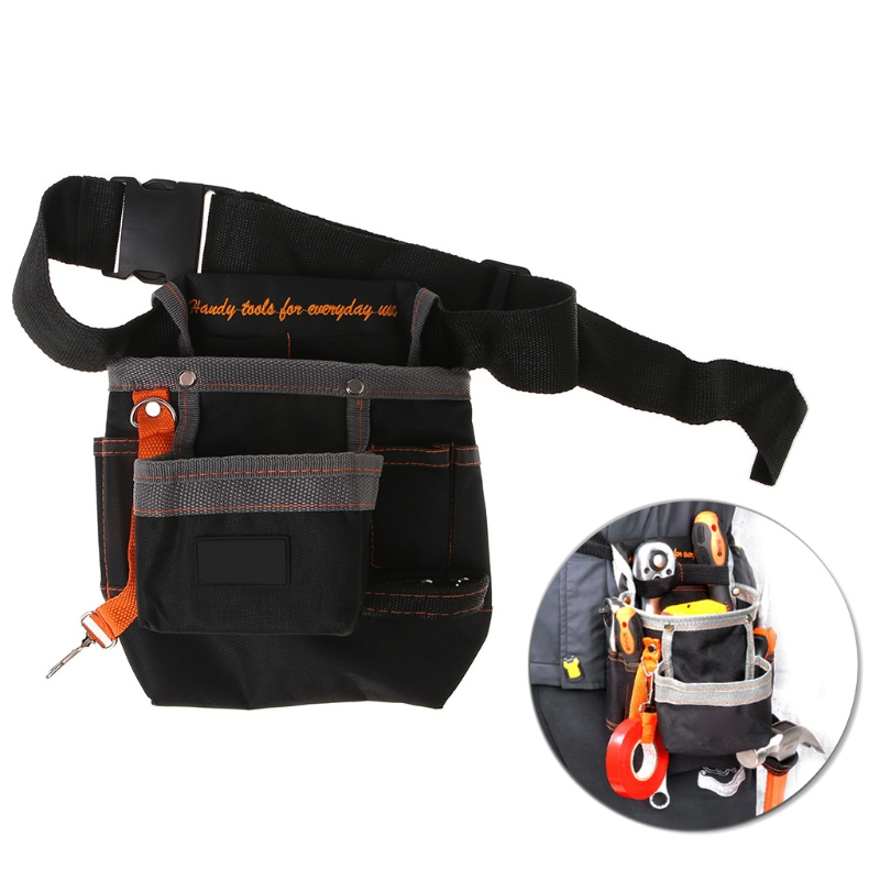 8 Pockets Tools Belt Electrician Tool Pouch With Adjustable Belt Maintenance Tool Bag #Sep.08