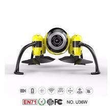U36W UDI Quadcopter 2.4 Ghz WIFI & FPV Mini Drone com Câmera Headless Modo Altitude Hold RC aeronave amarelo