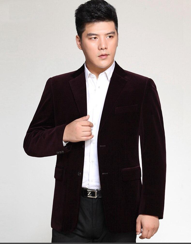 WAEOLSA Men Striped Velvet Blazers Elegant Plain Color Suit Coats Man Wool Blazer Hombre Corduroy Suit Jackets Red Navy Blue Uniform (12)