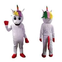 Unicorn Mascot Costume Little pony mascot costume Rainbow pony fancy dress costume for adult Halloween party