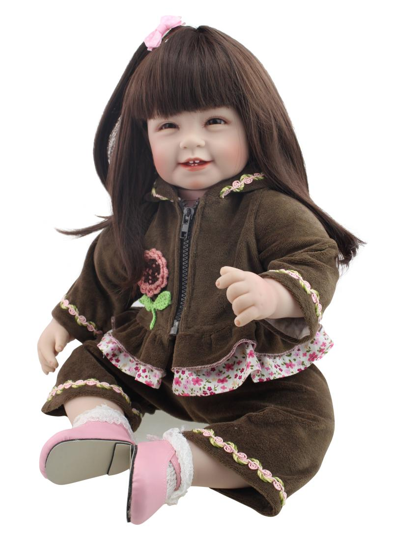 Silicone vinyl reborn baby doll kawaii toddler princess doll play house betime toy lifelike educational high-end birthday gifts high end 55cm silicone reborn doll toddler vinyl simulated dolls brinquedos christmas new year boutique gifts play house doll
