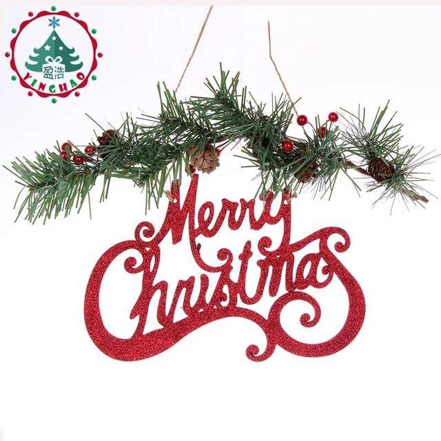 christmas alphabet hanging pieces ornament artificial white