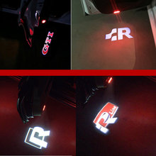 kanuoc For VW Golf 5 6 7 Jetta MK5 MK6 MK7 CC Tiguan Passat B6 b7 Scirocco New Touareg R line GTI LED Car Door Logo LIGHT