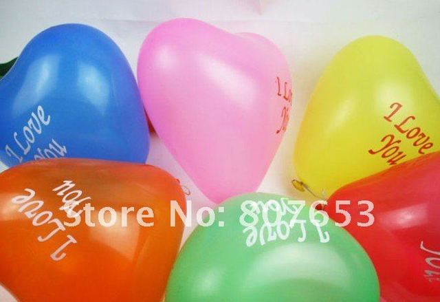 Colorful Latex heart&round Balloon inflatable balloon Kids toys gift Wedding Birthday Party decoration freeshipping 500pcs