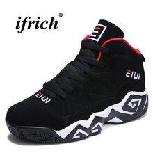 d93d2f7f89 Tênis de Basquete Dos Homens Branco Preto Vermelho Tênis de Basquete  Masculino Dos Homens Confortáveis Sapatos