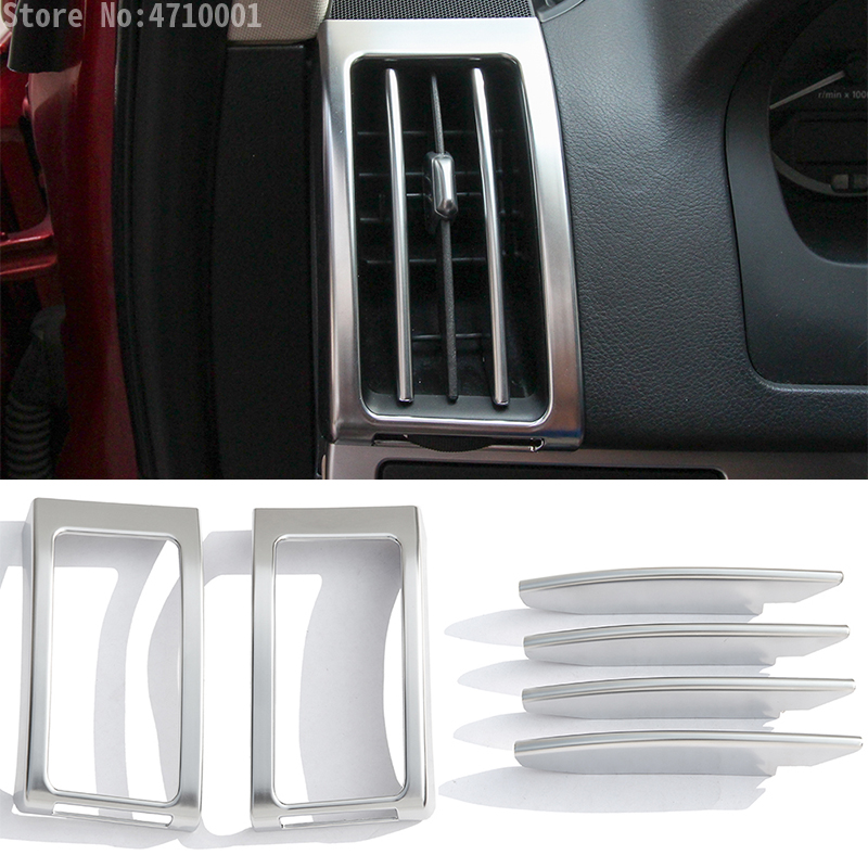 2pcs Plastic Dashboard Air Conditioning Vent Outlet Frame Cover Trim ForFreelander 2 2008-2015 Accessories
