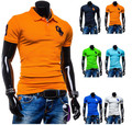 2015 new lapel T shirt shelves eight colors casual T shirts free shipping A8742