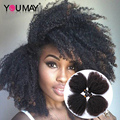 7A Kinky Curly Virgin Hair 4 Bundles/Lot Mongolian Afro 4B 4C Kinky Curly Human Hair Weaves You May Official Store Products