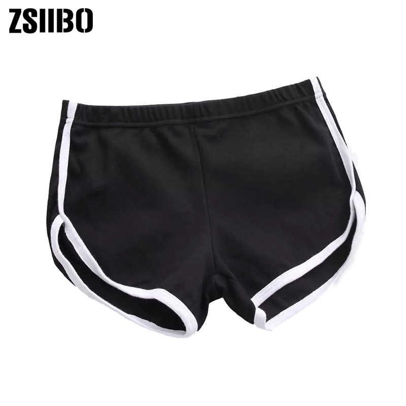 ZSIIBO 2019 Novo estilo Verão preto cinza Calções desportivos Mulheres Workout Cintura Magro Ocasional Shorts Curtos transporte da gota
