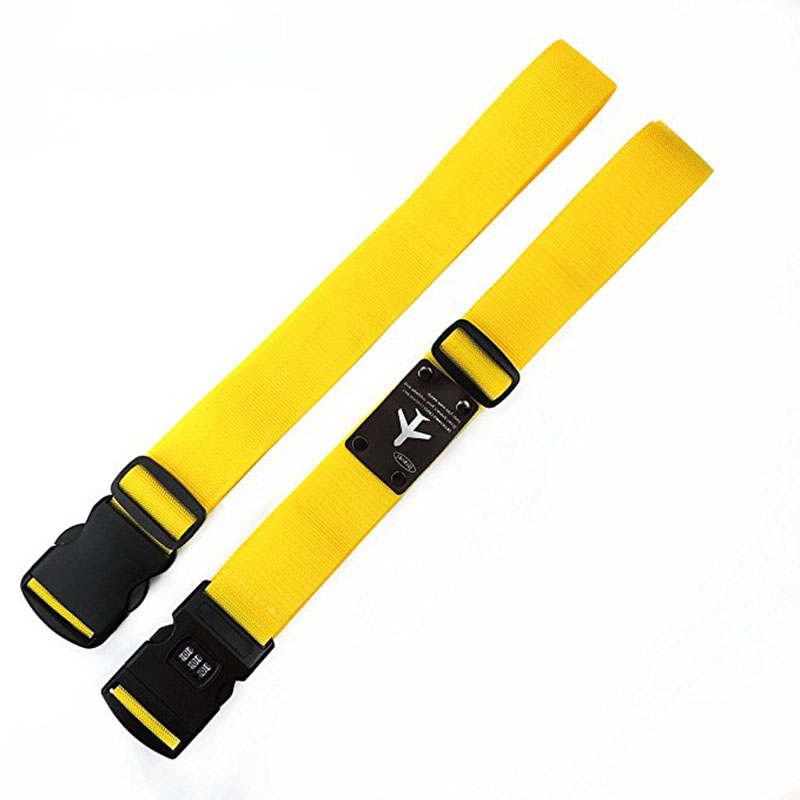 Detachable Cross Travel Luggage Strap Packing Belts Suitcase Bag Security Straps With Lock PO66