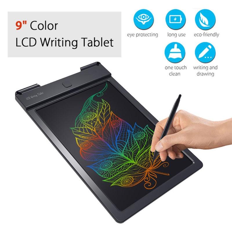 9 pouce Couleur LCD Tablette Écriture Plaquettes Darwing Conseil Réinscriptible Pour Enfants Cadeau