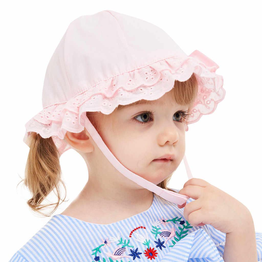 Детская шляпа Солнцезащитная Панама детские летние кружевные полые шапки для маленьких девочек Рыбацкая шляпа дети девочки шляпа с бантиком Мода gorras niño