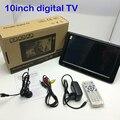 Fábrica del envío Mini 10 pulgadas televisión conectar la tarjeta TF puerto USB multi-idioma precio barato