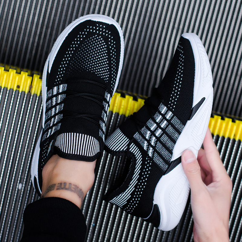 Hommes chaussures décontractées Sneakers été confortable respirant mâle chaussures en maille chaussures classiques