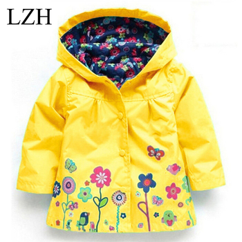 LZH 2017 Spring Autumn Girls Jacket For Girl Windbreaker Boys Jacket Kids Hooded Raincoat Girl Coat & Outerwear Children Clothes