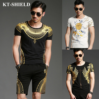 Hot Fashion Trend T Shirt Men Brand Clothing Cotton O Neck Short Sleeve Tops Mens Luxury