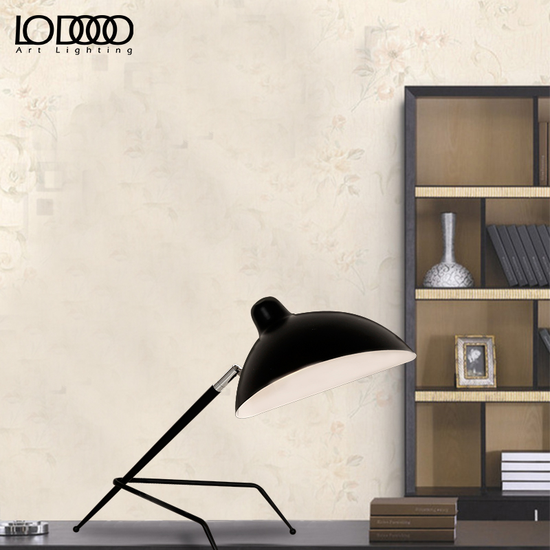LICAN Serge Mouille  Nordic writing desk  table lamp  creative artistic personality Duckbill E27 lampshade spider table lamp