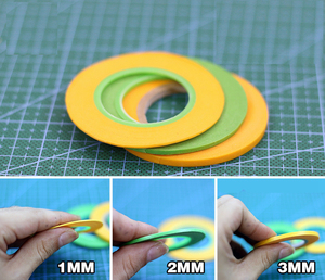 Model spraying Coating color Ultra fine Special masking tape (wide 1mm/2mm/3mm) 18m/long Free Shipping