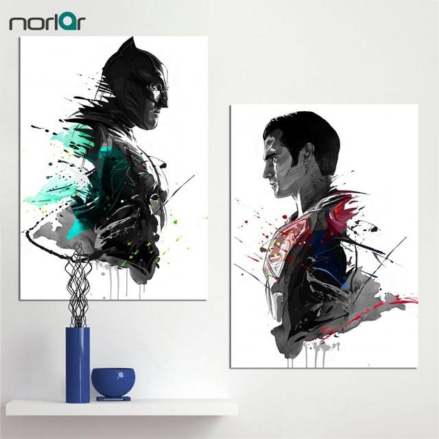 Aquarell Kunstdrucke Leinwand Ölgemälde Superheld Superman Batman Dekoration  Wohnkultur Moderne Wandbilder Für Wohnzimmer
