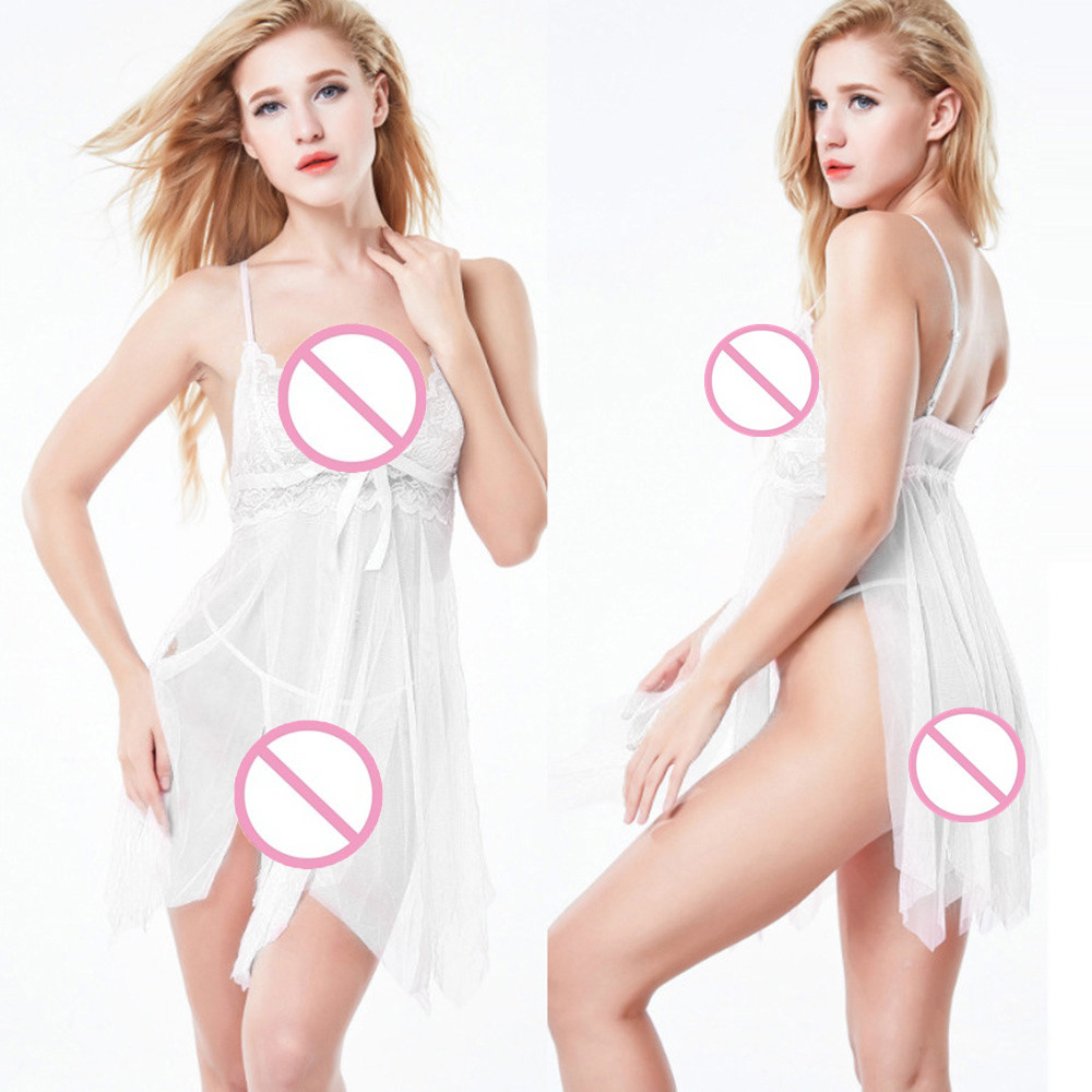 Women Sweater Sexy-Lingerie Babydoll Sleepwear Nightwear Underwear Free Take Off