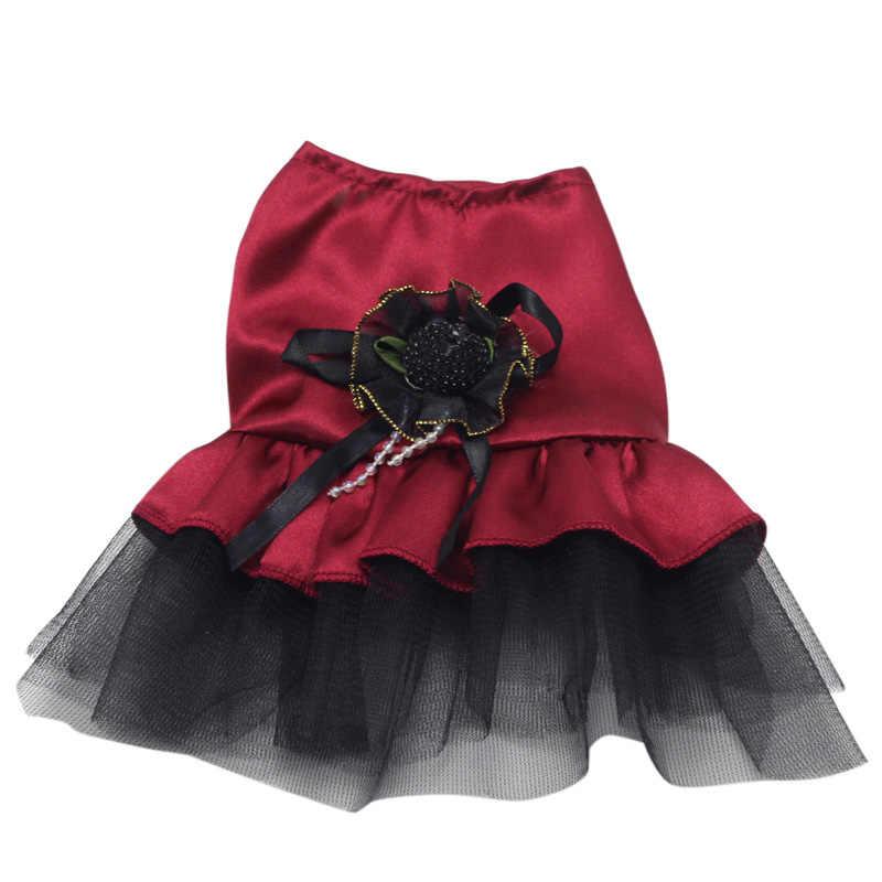 נקבה קטנה חיות מחמד כלב חתול כלבלב חתול שמלת תחרת חצאית טוטו קשת נסיכת תלבושות ביגוד