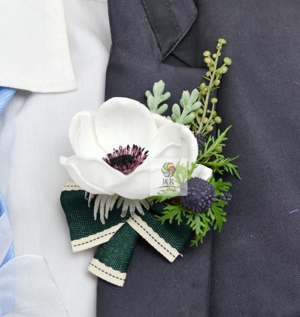 European style handmade white silver lotus flower wedding floral european style handmade white silver lotus flower wedding floral corsage flowers companion corsages mightylinksfo
