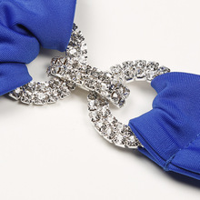 Hand Sewing Crystal Push Up Rhinestone Diamond Backless Bathing Suit