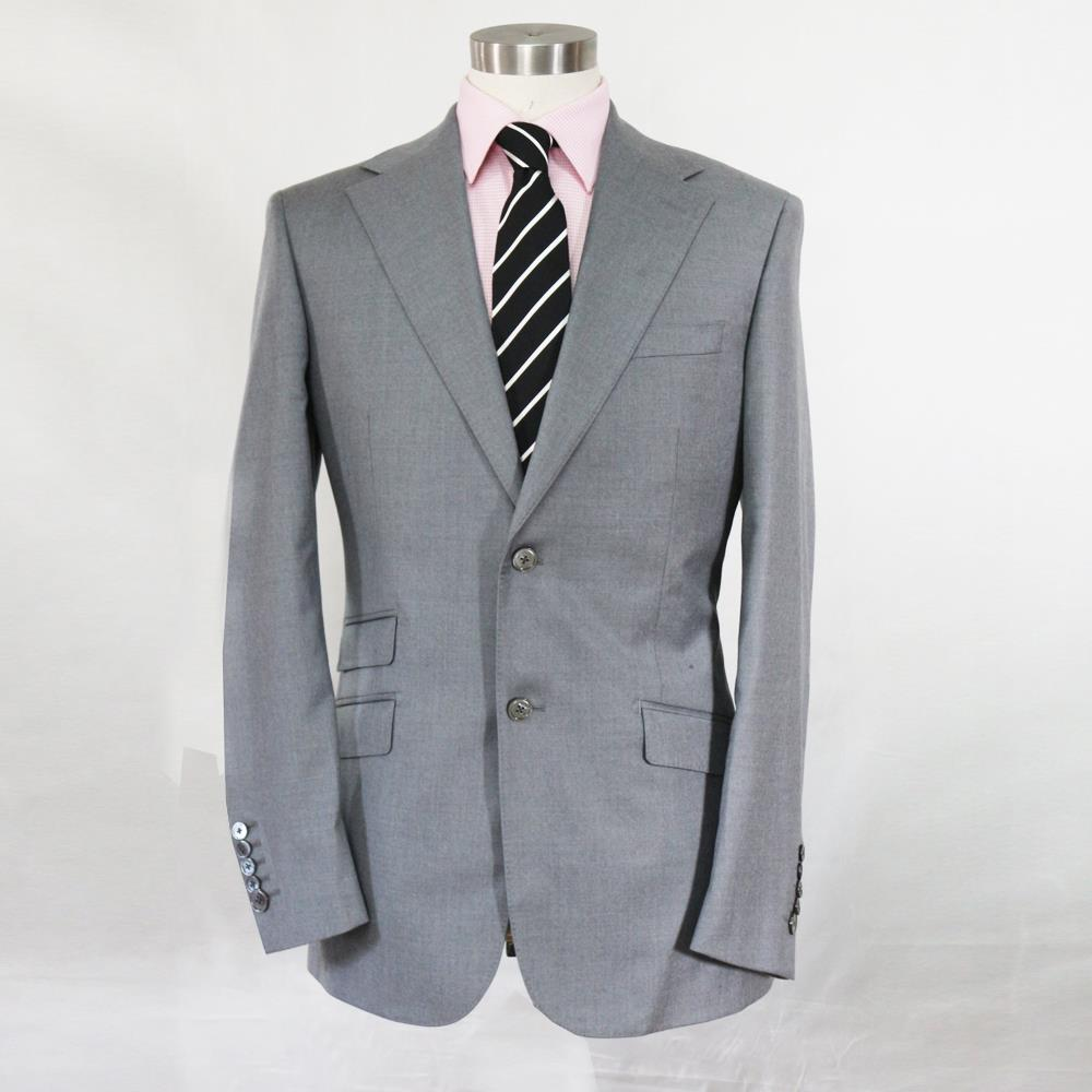 silver grey wool man's business suit,single button 2 ,nortch lapel 3 pockets,tailor made man's MTM wedding coat free shipping