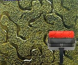 Ścienne narzędzie do drukowania tłoczone rolki do dekoracji ścian 7 cal rolka gumowa nr 042