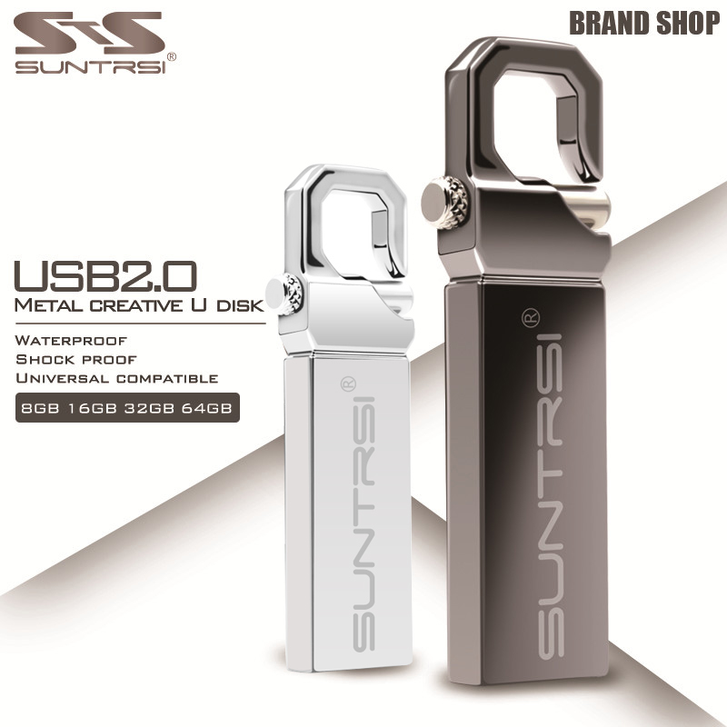 Suntrsi USB Flash Drive 16GB Metal Pendrive 32GB USB Stick High Speed Pen Drive Hot Sale USB Flash Real Capacity Flash Drive