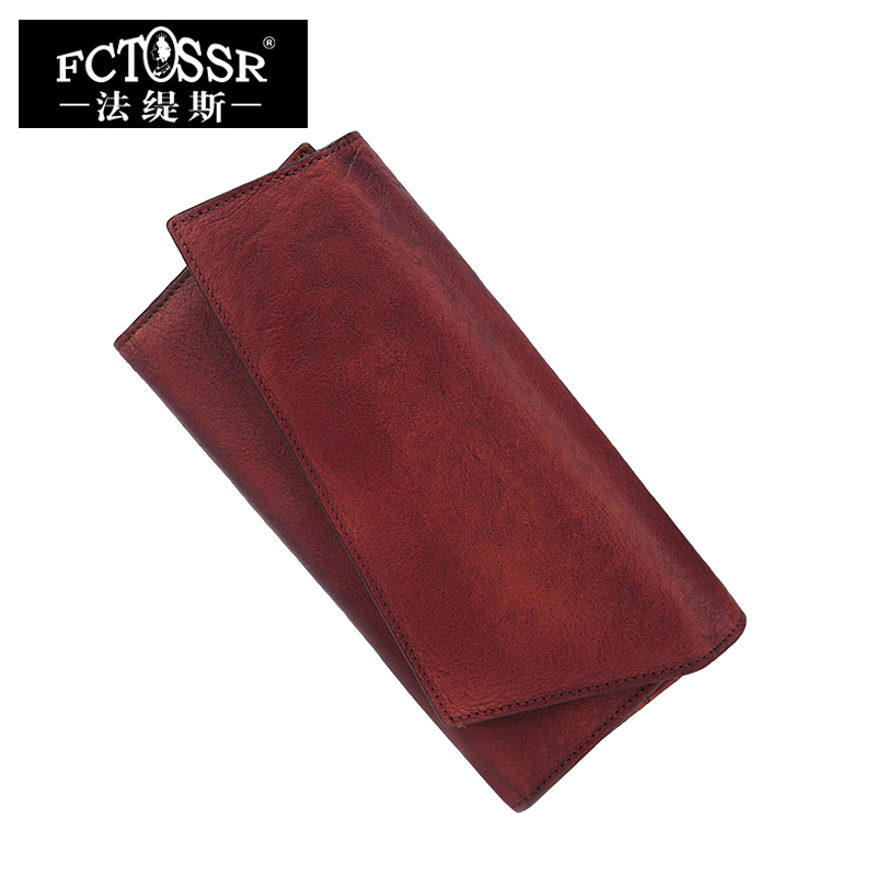 Natural Leather Women's Wallets Multiple Card Holder 2018 Handmade Leather Long Wallet Vintage Cell Phone Pocket Lady Purse panelled wallets cell phone pocket purse 2018 handmade natural leather vintage long style women s wallet