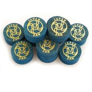 Image 1 - Xmlivet miễn phí vận chuyển 10 cái ZAN 14 MÉT màu xanh chuyên nghiệp billiards Pool cue mẹo S/M/H 8 lớp da billiard cung cấp Trung Quốc